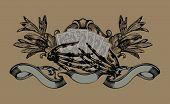 Постер, плакат: Игрок знак Скелет руки Игральные карты Векторные иллюстрации