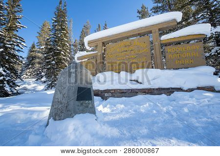 Continental Divide On Border Of