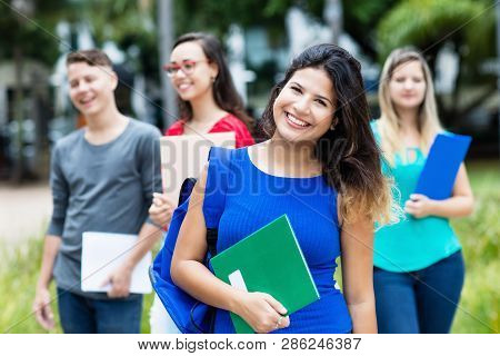 Spanish Female Student With Group