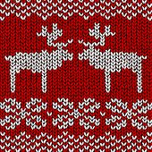 Christmas vector background, jumper with reindeers