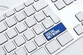 Постер, плакат: Социальная сеть клавиатуры