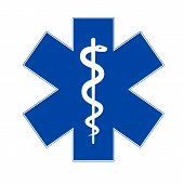 stock photo of medevac  - Emergency medicine symbol asclepius - JPG