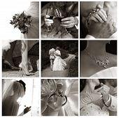 Постер, плакат: Коллаж из девяти Свадебные фотографии