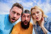 Shocking News. Amazed Surprised Face Expression. How To Impress People. Shocking Impression. Men Wit poster