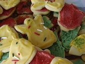 stock photo of christmas cookie  - christmas cookies with frosting - JPG