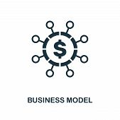 Business Model Icon. Creative Element Design From Fintech Technology Icons Collection. Pixel Perfect poster