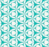 Vector Abstract Geometric Seamless Pattern. Turquoise And White Color. Simple Minimal Background Tex poster