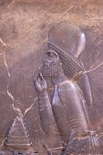foto of xerxes  - haghly detailed image of Ancient bas - JPG