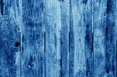 Weathered Wooden Fence In Navy Blue Color. Abstract Background And Texture For Design. poster