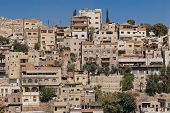 stock photo of amman  - Skyline of houses and buildings in Amman - JPG