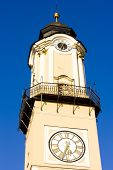 stock photo of banska  - detail of Tower of the Clock - JPG
