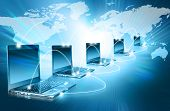stock photo of continents  - Best Internet Concept of global business from concepts series - JPG