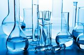 stock photo of flask  - chemical laboratory glassware - JPG