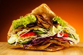 stock photo of pita  - Kebab  - JPG