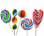 colorful lollipop isolated on a white background