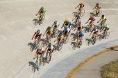 Cycling Racing On Velodrome