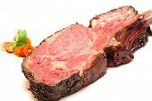 image of wagyu  - Gourmet Main Entree Course Roasted Wagyu beef steak - JPG