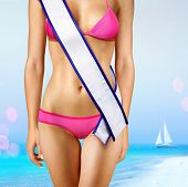stock photo of beauty pageant  - woman - JPG