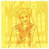 Medieval Smiling Princess poster