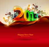 stock photo of happy new year 2013  - Happy new year 2013 - JPG