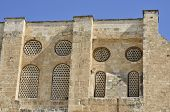 Ancient Facade In Old City Of Jerusalem.