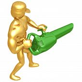 stock photo of leaf-blower  - A Concept And Presentation Figure in 3D - JPG