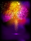 image of diwali lamp  - Fire crackers background for Diwali festival celebration in India - JPG
