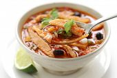 stock photo of vegetable soup  - tortilla soup - JPG