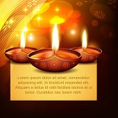 picture of diya  - vector diwali diya on stylish background - JPG