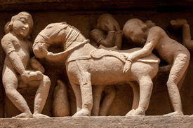 foto of kamasutra  - Famous erotic stone carving bas relieves - JPG