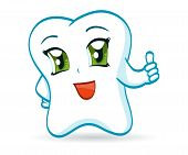 image of chibi  - An illustration of a cute cartoon tooth - JPG