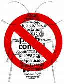 picture of restriction  - Restricted Area For Pest Bugs Vector Illustration - JPG