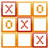 stock photo of tic-tac-toe  - Tic Tac Toe Vector Illustration Winning Concept - JPG