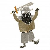 image of raider  - retro cartoon medieval raider - JPG