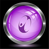 Skydiver. Internet button. Vector illustration.