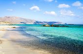 stock photo of greek-island  - Elafonisi or Elafonissi - JPG
