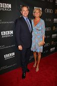 Hugh Bonneville and Lulu Williams at the BAFTA Los Angeles TV Tea 2013, SLS Hotel, Beverly Hills, CA