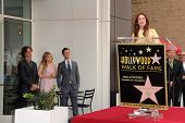 Jay Roach, Chloe Grace Moretz, Joseph Gordon-Levitt and Julianne Moore at Julianne Moore's Star on t