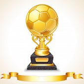 pic of trophy  - Abstract Golden Soccer Trophy - JPG