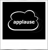 foto of applause  - applause word business concept photo frame isolated on white - JPG