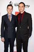 Todd Spiewak, Jim Parsons at the 2013 GLSEN Awards, Beverly Hills Hotel, Beverly Hills, CA 10-18-13