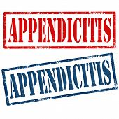 pic of appendicitis  - Set of grunge rubber stamps with text Appendicitis - JPG