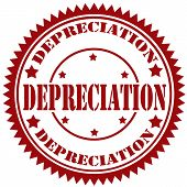 foto of depreciation  - Rubber stamp with text Depreciation - JPG