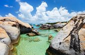 pic of virginity  - The Baths beach area major tourist attraction at Virgin Gorda - JPG