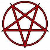 image of pentagram  - Pentagram icon on white background - JPG