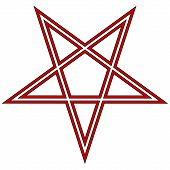 stock photo of pentagram  - Pentagram icon on white background - JPG
