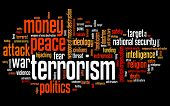 foto of war terror  - Terrorism issues and concepts word cloud illustration - JPG