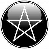 foto of pentacle  - Pentagram icon on white background - JPG