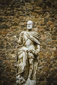 stock photo of parador  - Carlos V sculpture - JPG