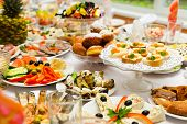 picture of banquet  - Served for a banquet table - JPG